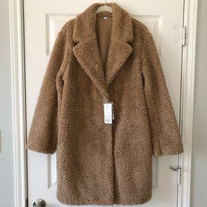 d4a2e2cf4a Uniqlo Jackets & Coats - Uniqlo Pile-Lined Fleece Long-Sleeve Tailored Coat